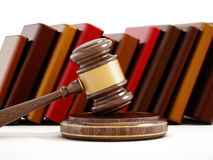 Gavel and books Royalty Free Stock Photo