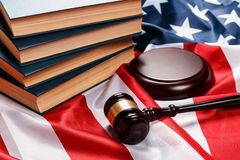 Gavel and books Royalty Free Stock Images