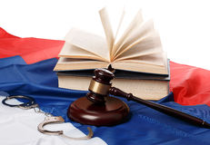 Gavel and books Royalty Free Stock Image