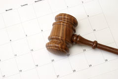 Gavel and Calendar Stock Photography
