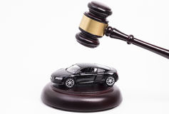Gavel on car Royalty Free Stock Images