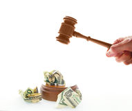 Gavel cash Royalty Free Stock Photography