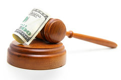 Gavel cash Royalty Free Stock Image