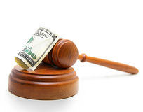 Gavel cash Stock Image