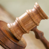 Gavel Closeup with Blurred Background Royalty Free Stock Photo