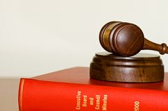 Gavel and company records Royalty Free Stock Photography