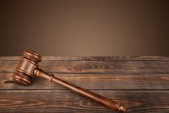 Gavel. Court law order lawer legal judgement Royalty Free Stock Images