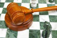 Gavel da xadrez imagens de stock