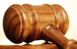 Gavel detail Stock Image