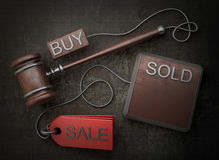 Gavel do leilão imagem de stock royalty free