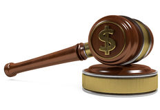 Gavel dollar Stock Images