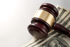 Gavel and dollars Royalty Free Stock Photo