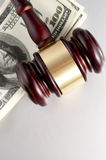 Gavel and dollars Royalty Free Stock Photography