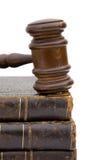 Gavel et livres Photographie stock libre de droits