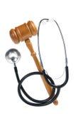 Gavel et stéthoscope image libre de droits