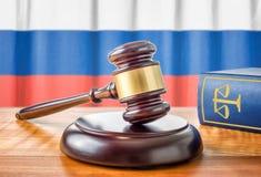 Gavel et un livre de loi - Russie images libres de droits