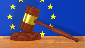 Gavel for Europe Stock Photos