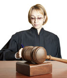 Gavel and female judge Royalty Free Stock Photos