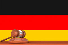 Gavel with Flag Of Germany Royalty Free Stock Photography