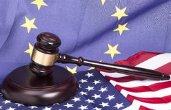 Gavel with flag Royalty Free Stock Images