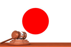 Gavel with Flag Of Japan Royalty Free Stock Image