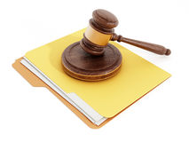 Gavel on folder Royalty Free Stock Photo