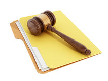 Gavel on folder Stock Images