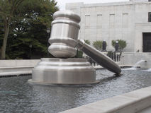 Gavel Front Side Fotografia Stock