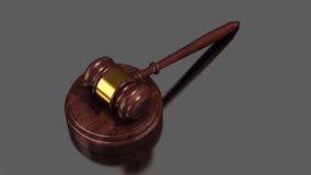 Gavel gold Royalty Free Stock Images