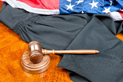Gavel and gown Royalty Free Stock Image