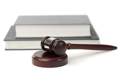 Gavel and grey book Royalty Free Stock Photography