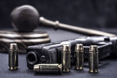 Gavel and gun rights Stock Images