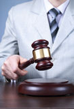Gavel in the hand Royalty Free Stock Images