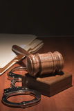 Gavel and Handcuffs Stock Photos