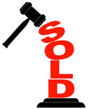 Gavel hitting sold Royalty Free Stock Images
