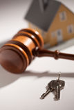 Gavel, House Keys and Model Home Stock Photography