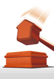 Gavel for housing auction Royalty Free Stock Image