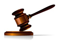 Gavel icon Royalty Free Stock Images