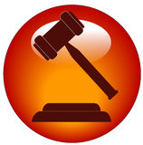 Gavel icon or button Royalty Free Stock Image