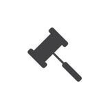 Gavel icon , Judge Hammer solid logo illustration, pictogr Stock Photography