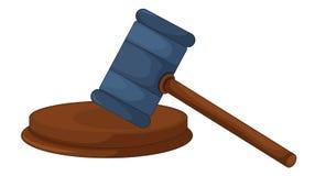 Gavel. Illustration of a judges gavel Royalty Free Stock Photo