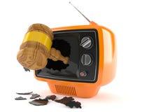 Gavel inside tv Stock Images