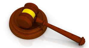 Gavel of the judge Royalty Free Stock Photography