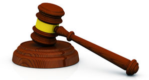 Gavel of the judge Stock Photography