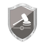 Gavel justice and law concept Stock Image