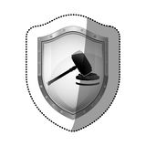 Gavel justice and law concept Stock Images