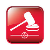Gavel justice and law concept Royalty Free Stock Photos
