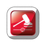 Gavel justice and law concept Royalty Free Stock Photography