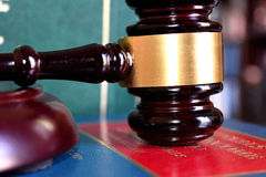 Gavel for justice. Mallet with an auction or a judge Stock Image