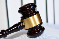 Gavel for justice. Mallet with an auction or a judge Stock Photo